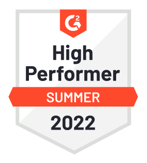 High Performer Fall 2020 award