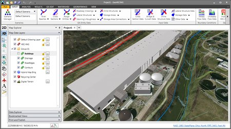 GeoHECRAS - HEC-RAS Civil Engineering Software