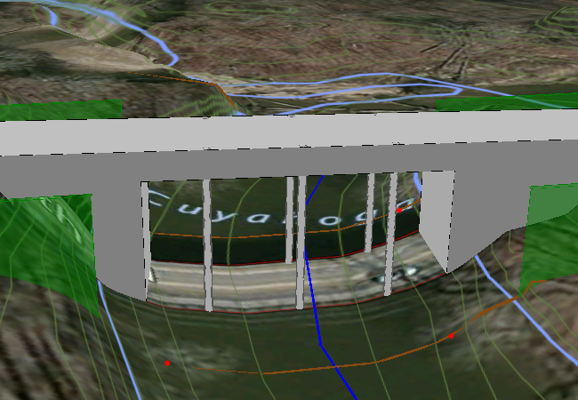 3D View - Bridge Abutment & Interior