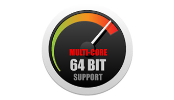 Powerful 64-bit, Multi-Core Support