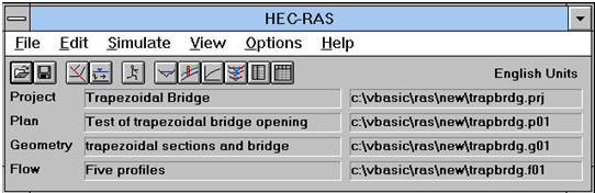 HEC-RAS version 1.0