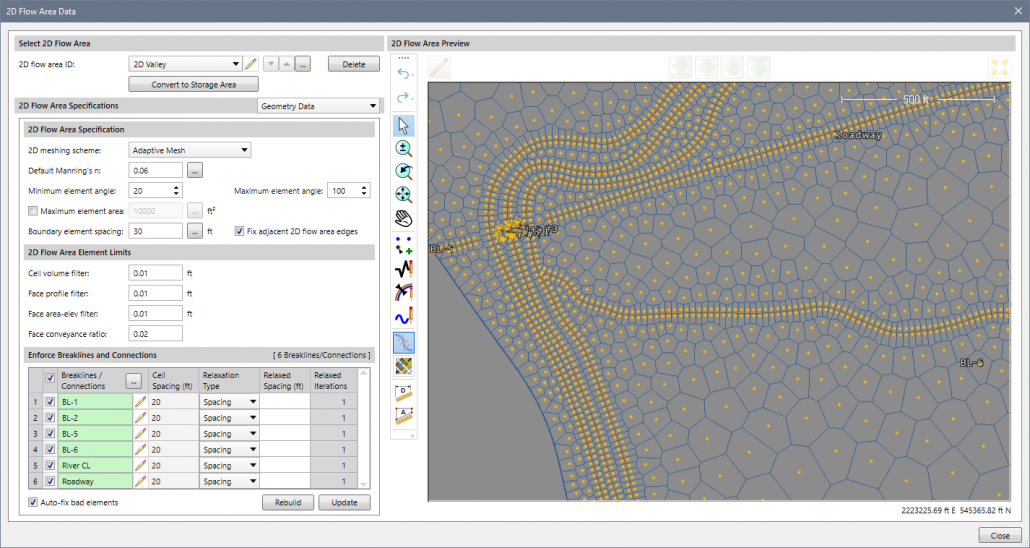 Download HEC-RAS 5.0 2D Floodplain Modeling Software - Adaptive 2D Mesh Refinement
