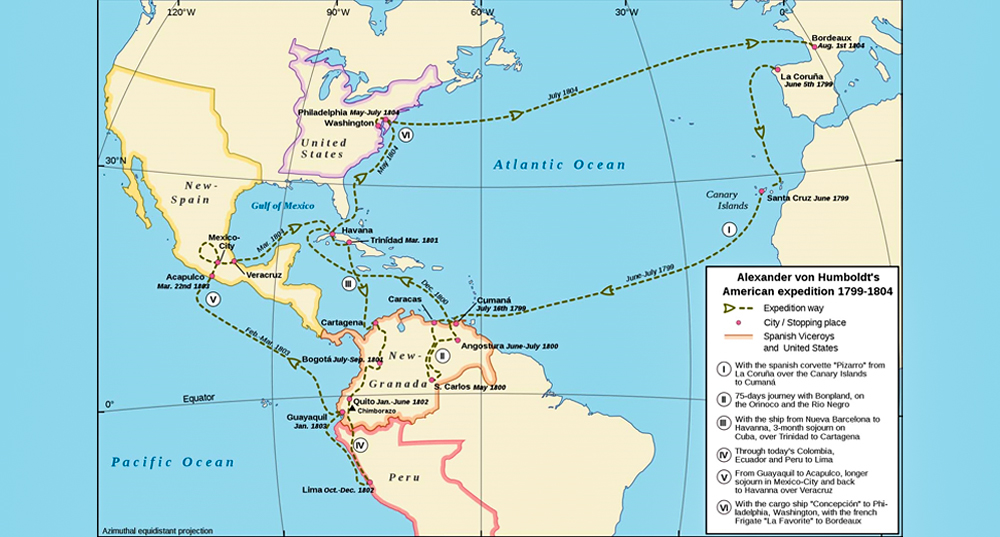 Alexander von Humboldt's Latin American expedition