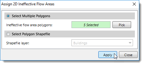 Assign 2D Ineffective Flow Areas - Select Polygons