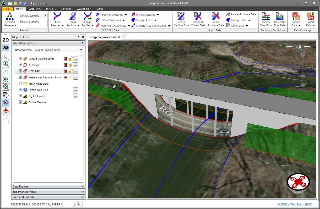 Quickly define the roadway crossing bridge opening in your HEC-RAS model