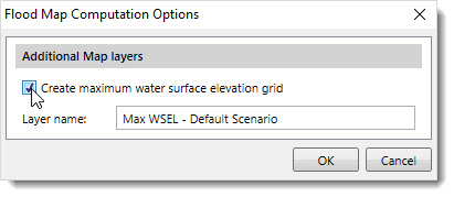 Create Maximum Water Surface Elevation Grid
