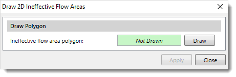 Draw 2D Ineffective Flow Areas dialog box