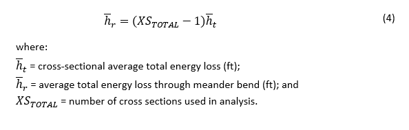 Total Energy Loss through Meander Bend