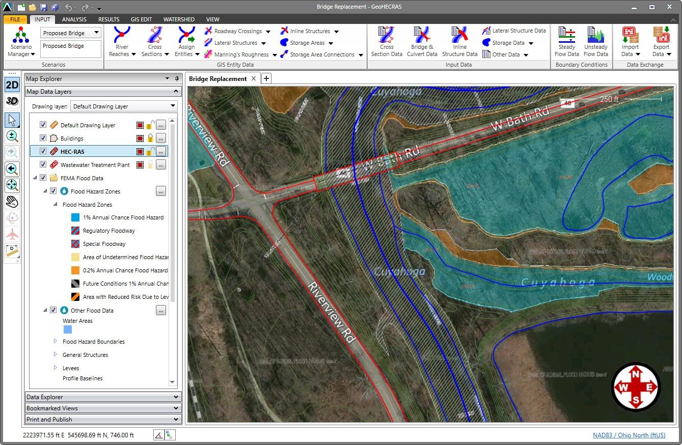 Automatically plot the FEMA flood map on top of your HEC-RAS model