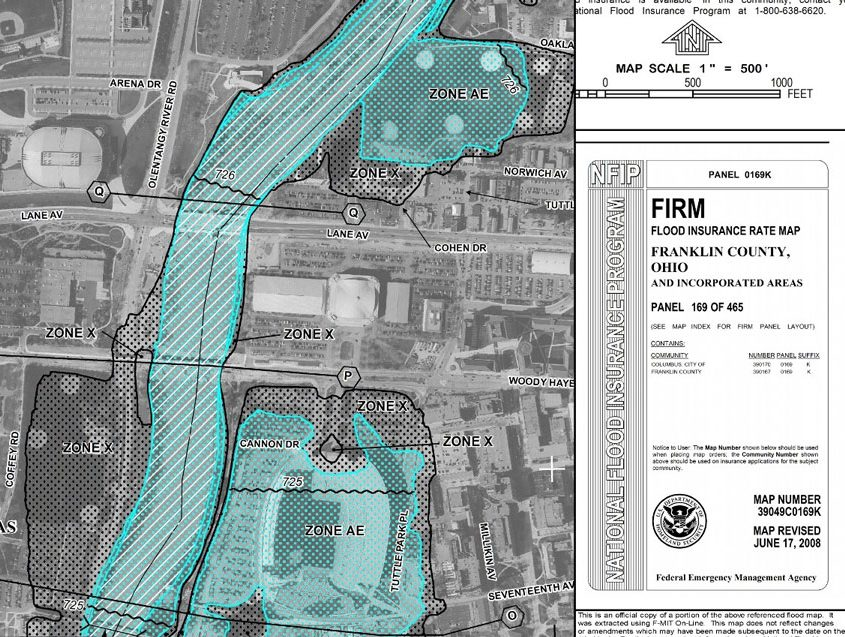 Federal Emergency Management Agency FIRM Map
