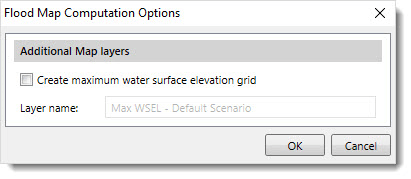 Flood Map Computation Options dialog box