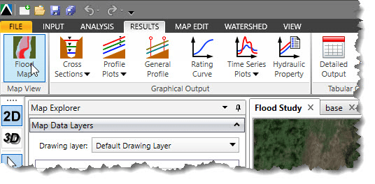 Flood Map menu item
