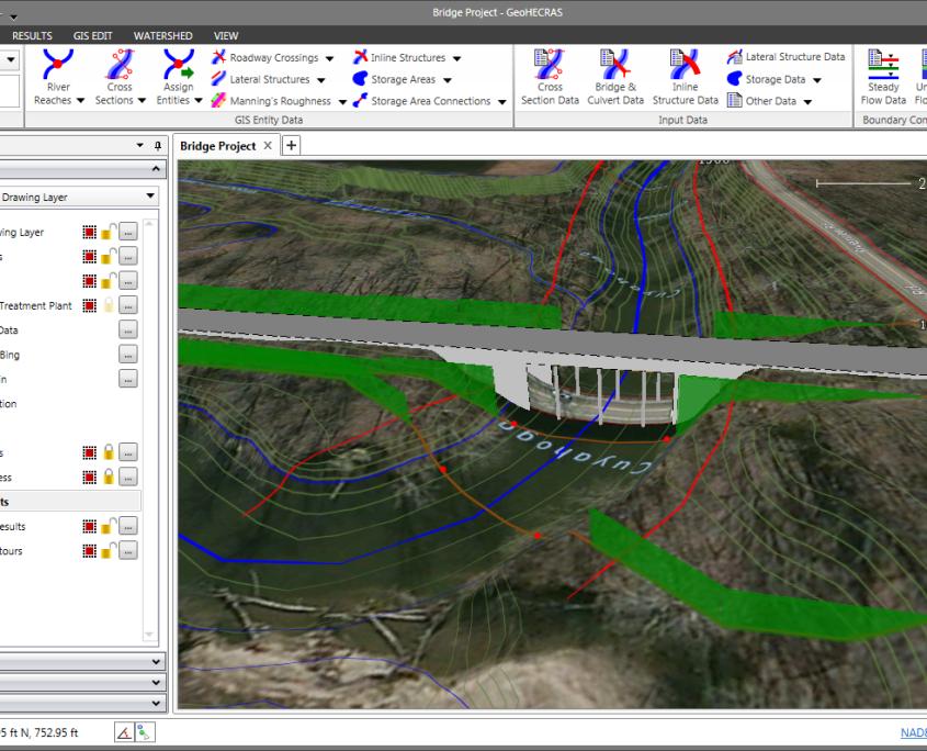 HEC-RAS 3D roadway crossing