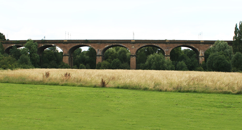 Wharncliffe Viaduct built in 1838 to take the Great Western Railway over the valley of the River Brent.