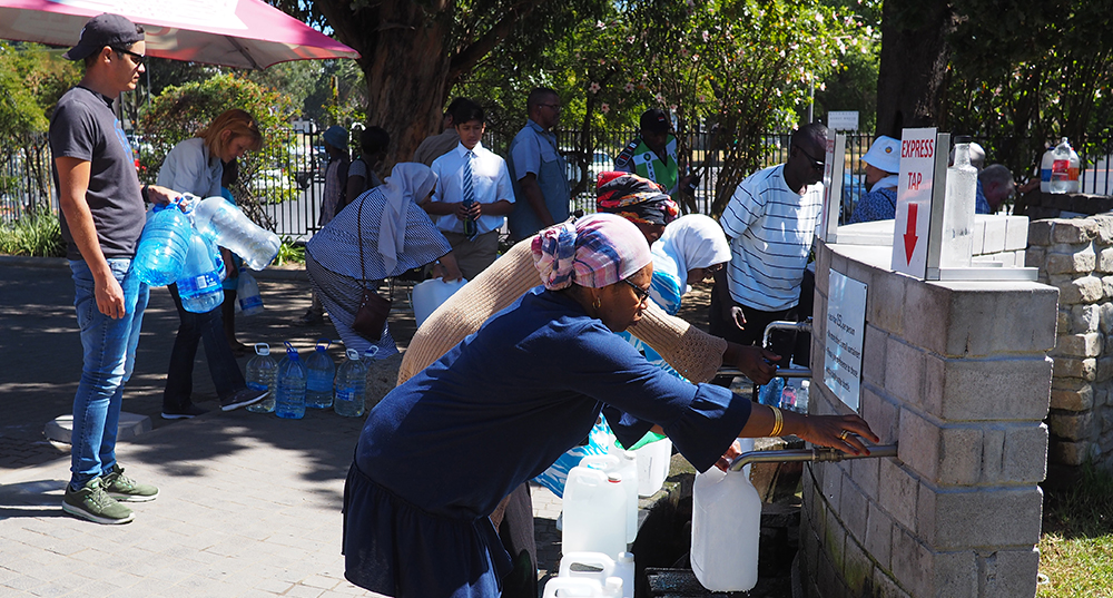 The water crisis in Cape Town, South Africa