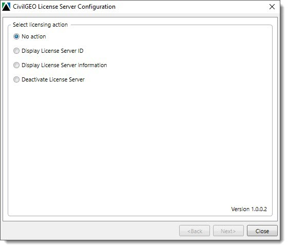 CivilGEO License Server Configuration