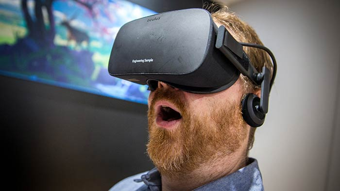Oculus Rift is a virtual reality system that completely immerses you inside virtual worlds