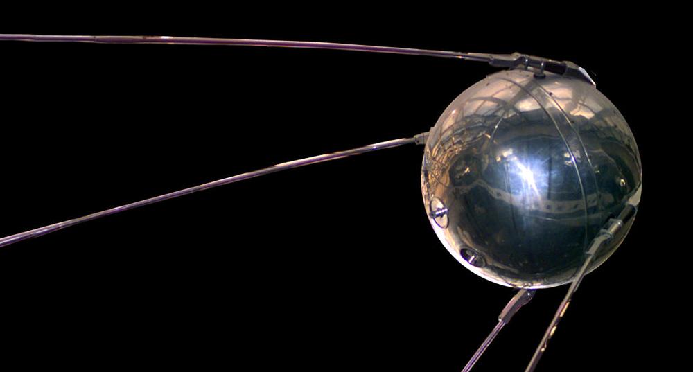 A replica of Sputnik I