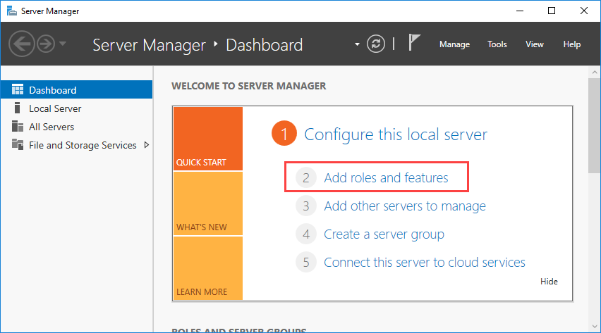 The Server Manager