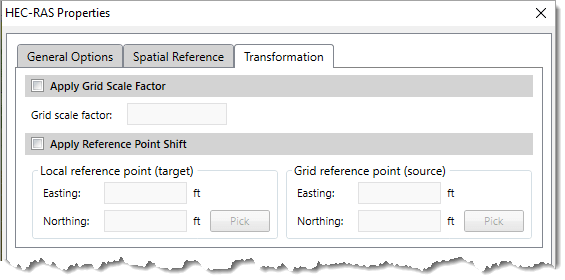 Layer Properties dialog boxes – Transformation Panel