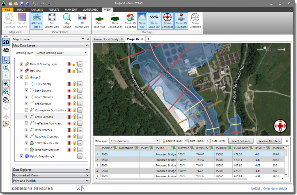 Search, view and edit GIS and other attribute data in HEC-RAS using the Attribute Table