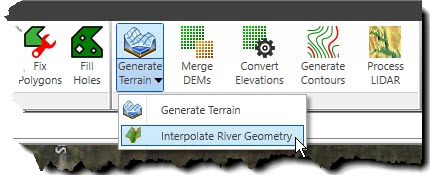Interpolate River Geometry