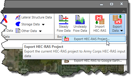 Export HEC-RAS Model/Project
