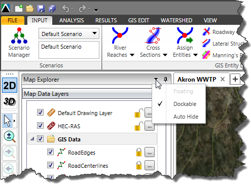 Auto Hide Map Data Layers panel