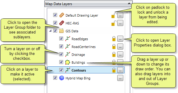 Map Data Layers Panel
