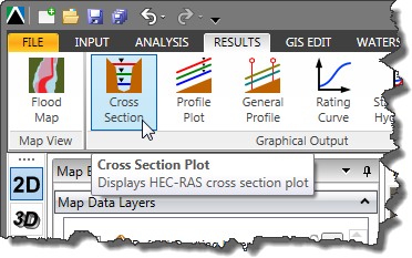 Results - Cross Section Menu - Displaying Cross Section Plots