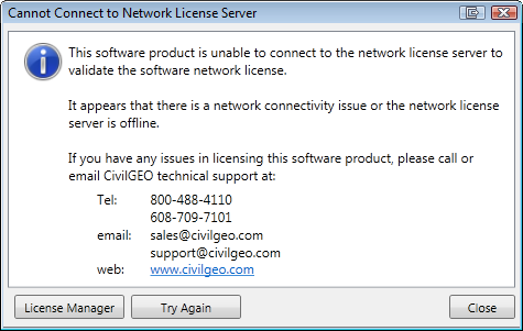 Can Not Connect to Network License Server