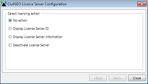 CivilGEO License Server Configuration