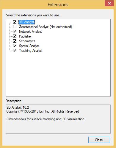 ArcCatalog 3D Analyst Option