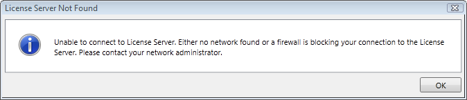 License Server Not Found