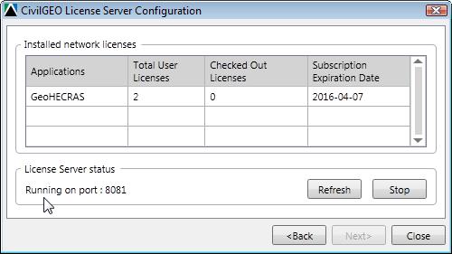Display License Server information