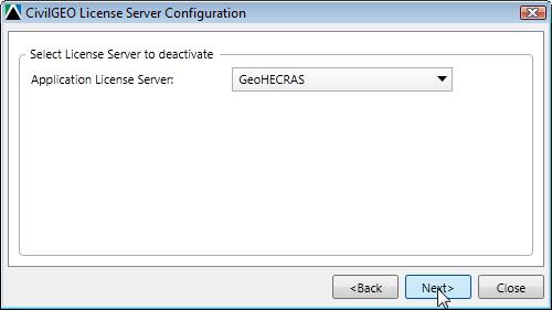 CivilGEO License Server Configuration Window
