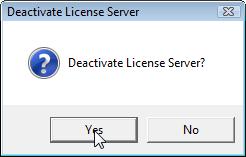 Deactivate License Server
