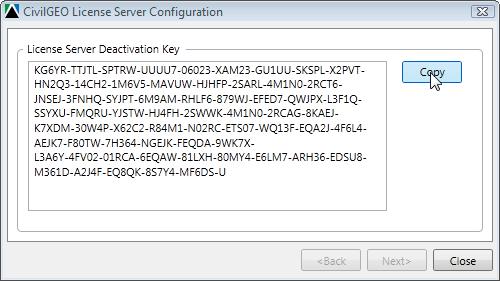 License Server Deactivation Key