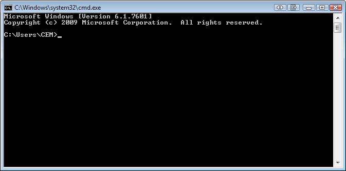 Windows CMD window