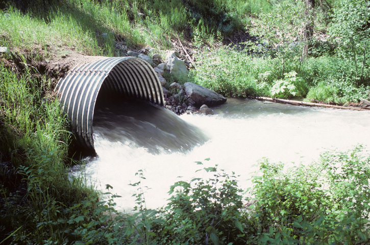 Culvert flowing full