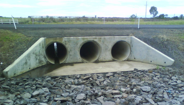 Three Barrel Culvert