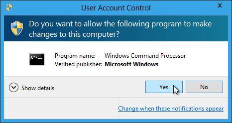 Batch File User Account Control