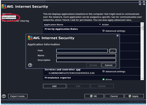 AVG Antivirus Firewall Configuration