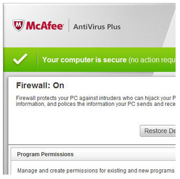 Antivirus Firewall Configuration