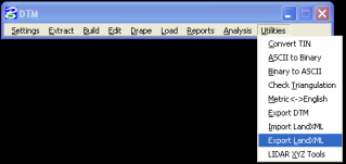 DTM Export Utilities - Export LandXML