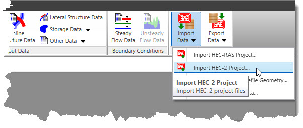 Import a HEC-2 Model in HEC-RAS