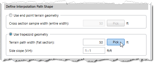 Define Interpolation Path Shape
